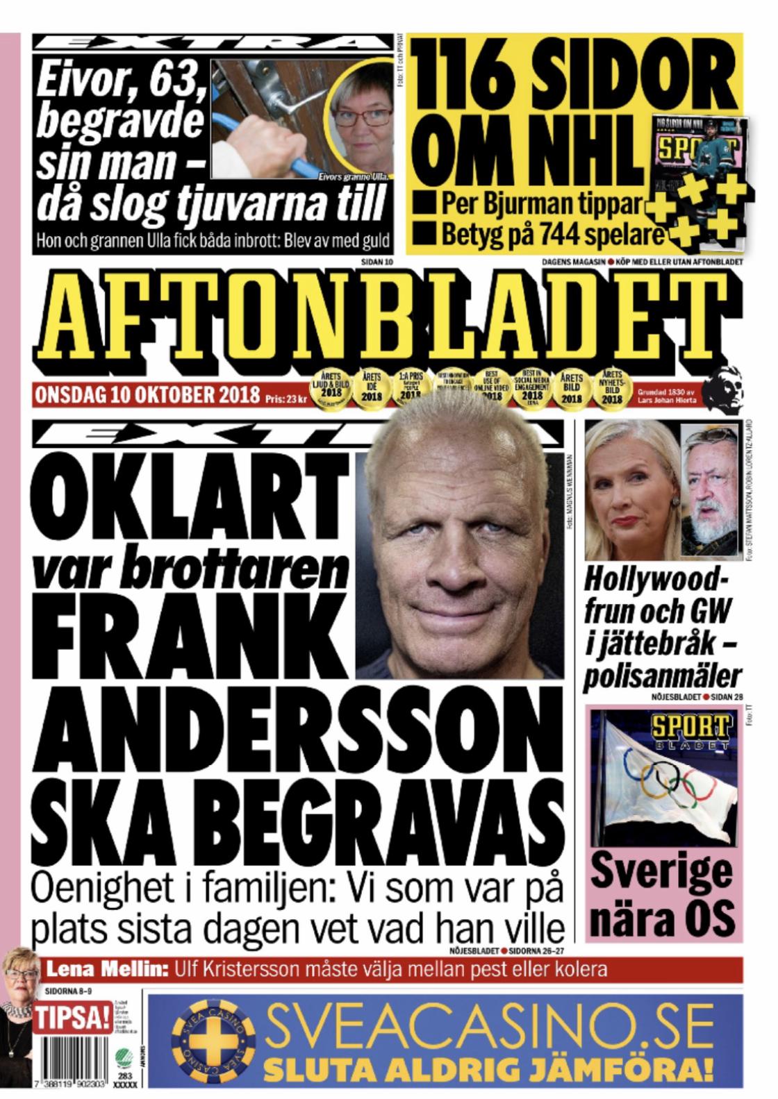 Newspaper Aftonbladet (Sweden). Newspapers in Sweden